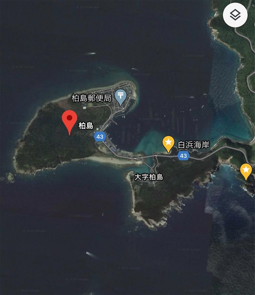 柏島のGoogleマップ