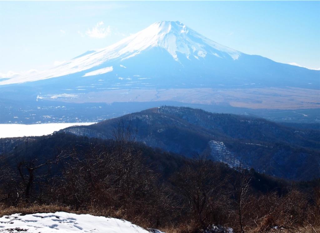 石割山から見た富士山