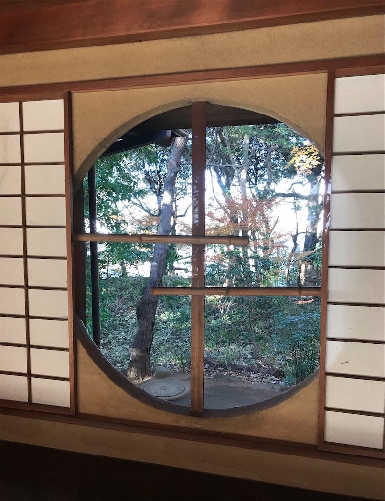 戸定邸の円窓