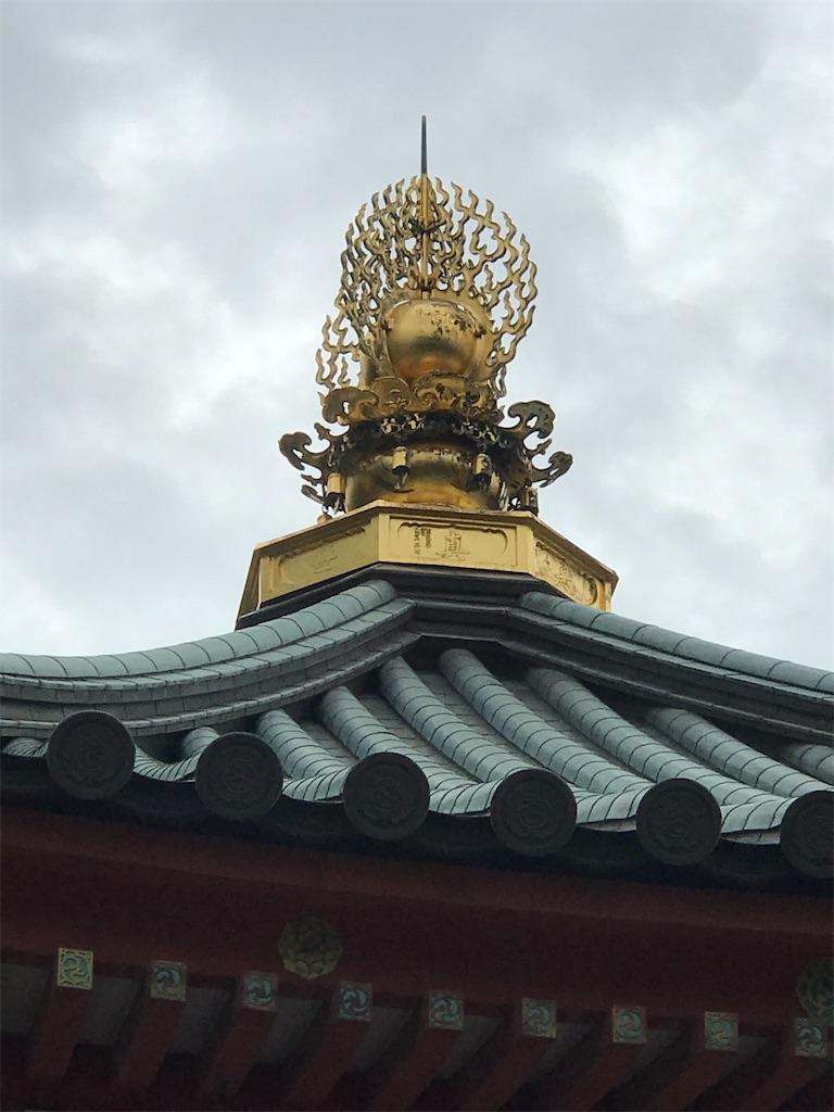 聖徳太子堂の宝珠と水煙