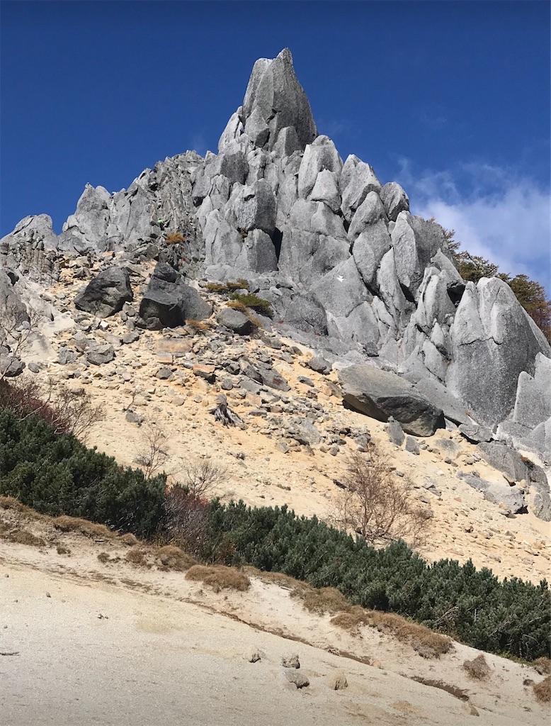 観音岳のオベリスクと呼ばれる岩塔
