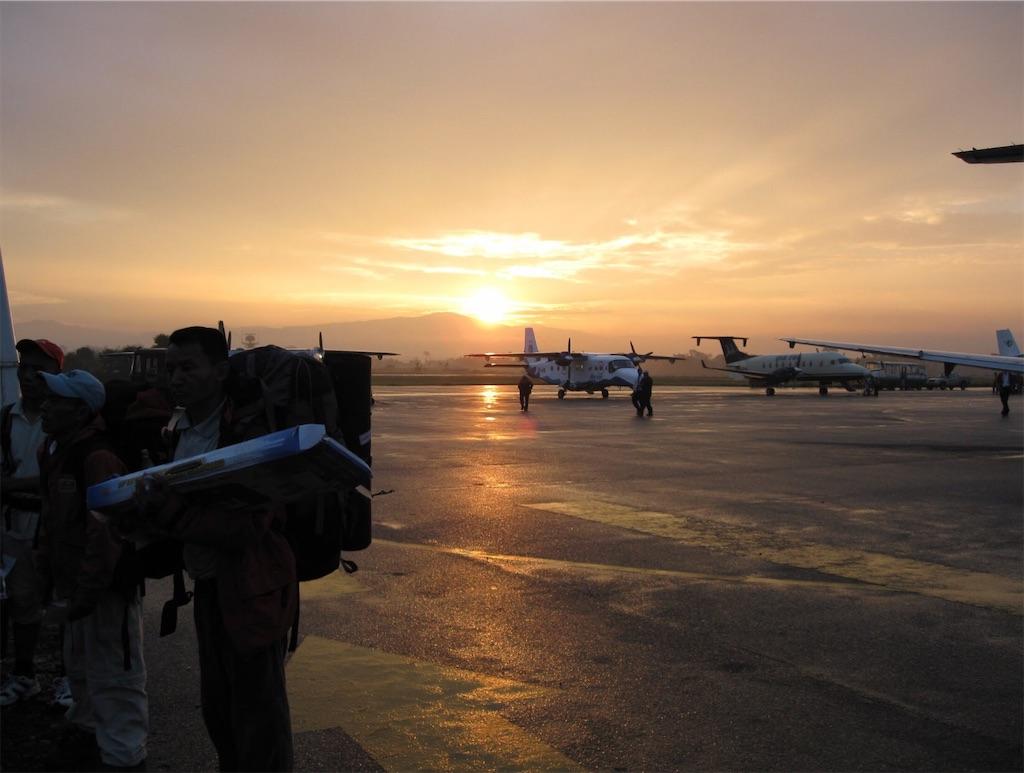カトマンドゥのトリブバン国際空港