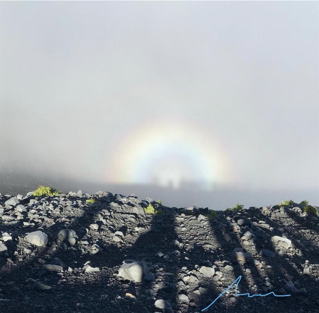 富士山六合目に現れたブロッケン