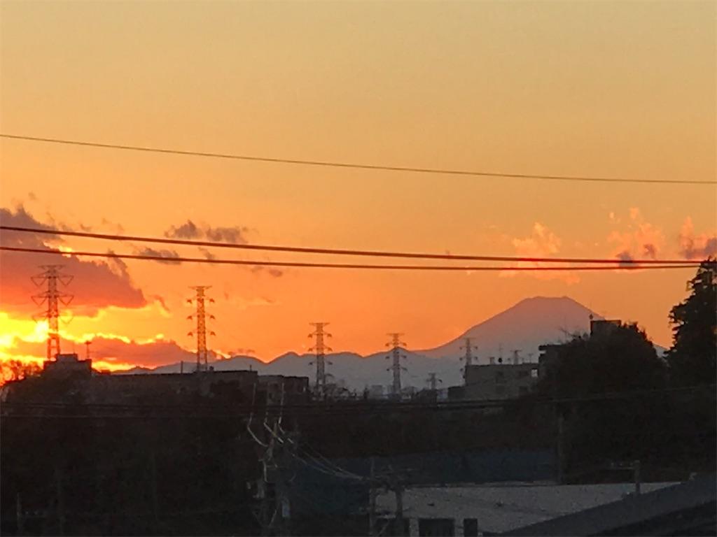 元旦の夕方の富士山