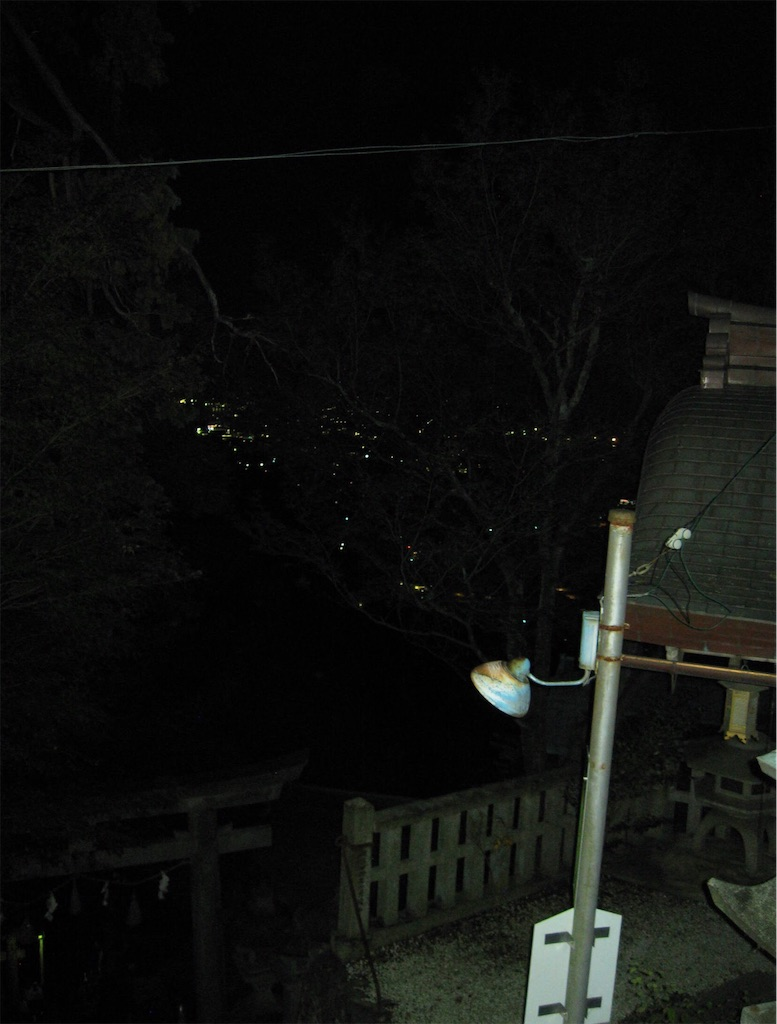 街の灯りと夜景
