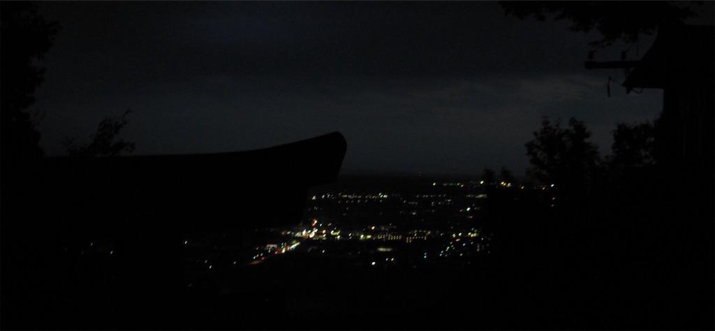 だんだん夜景が見えて来ました。