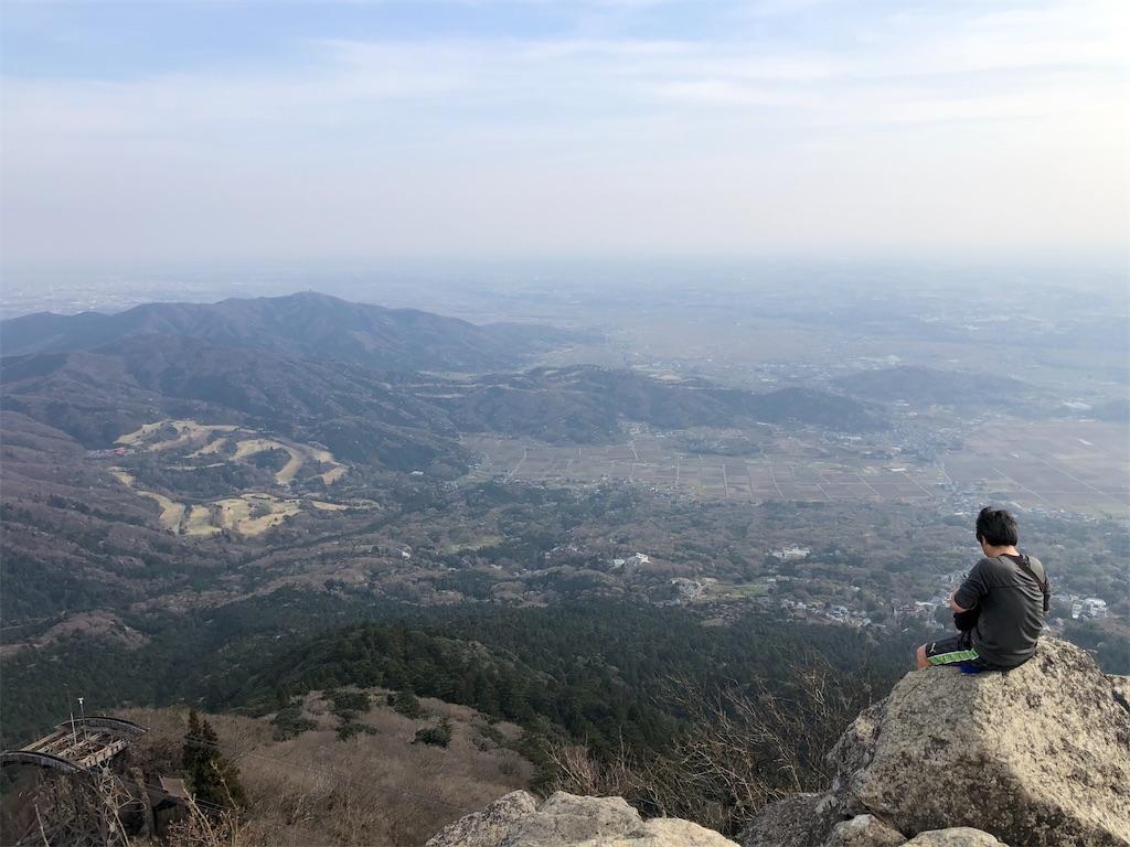 絶景の女体山山頂