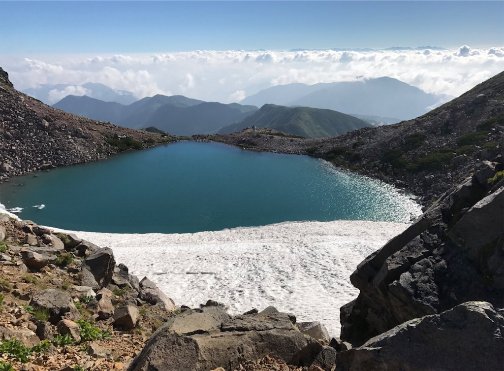 霊峰白山山頂 翠ヶ池
