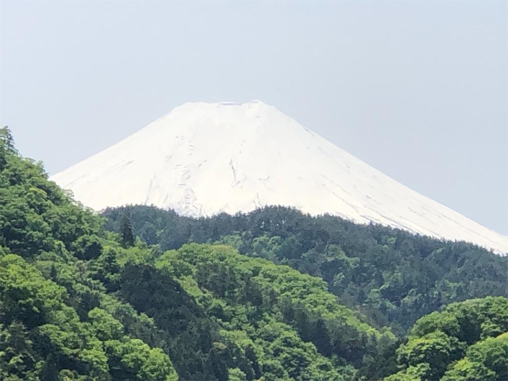 サービスエリアから見た富士山