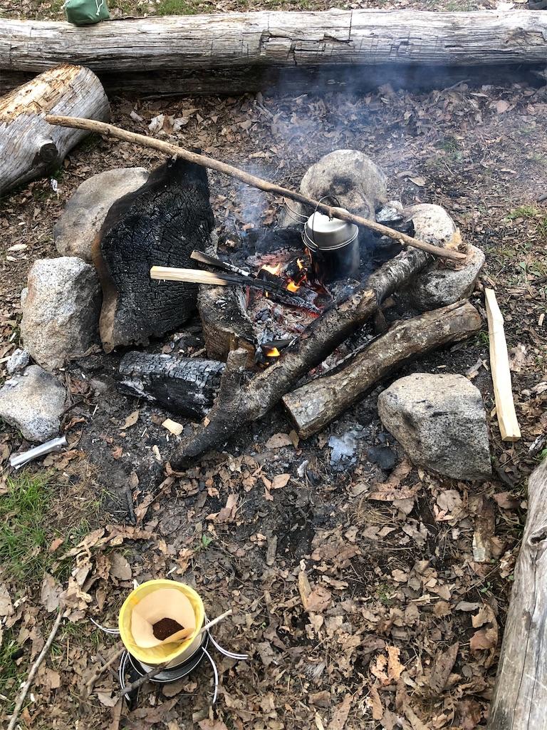 さっそく火を起こしてコーヒータイム。