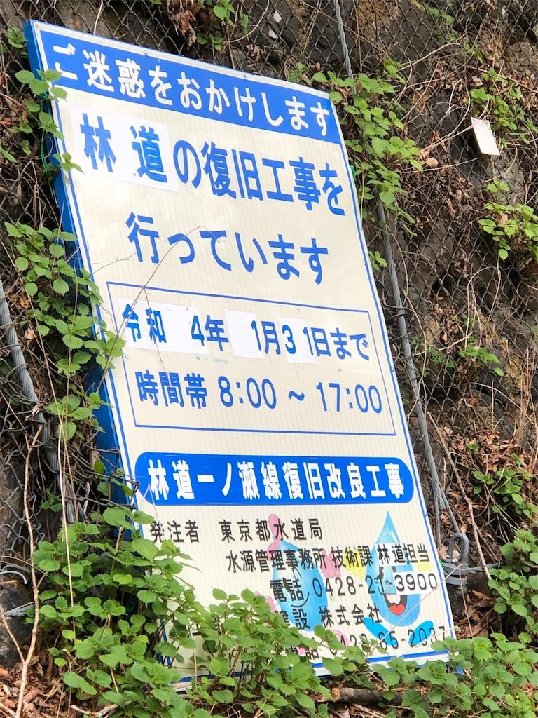 通行止の看板