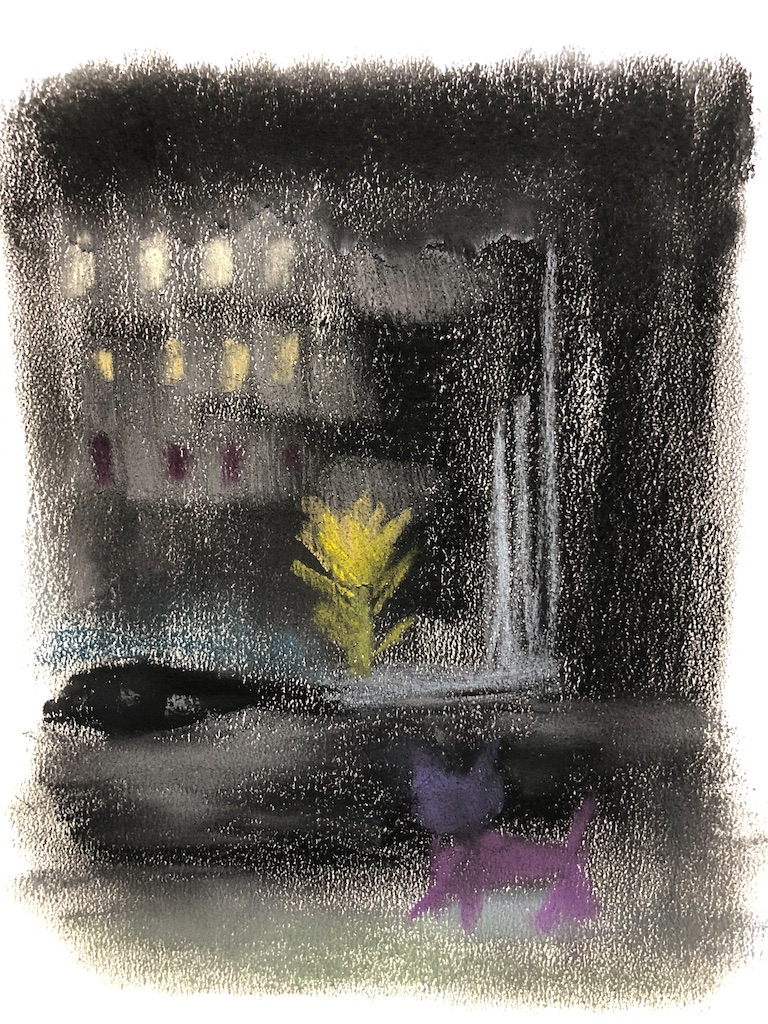 夜更けの花