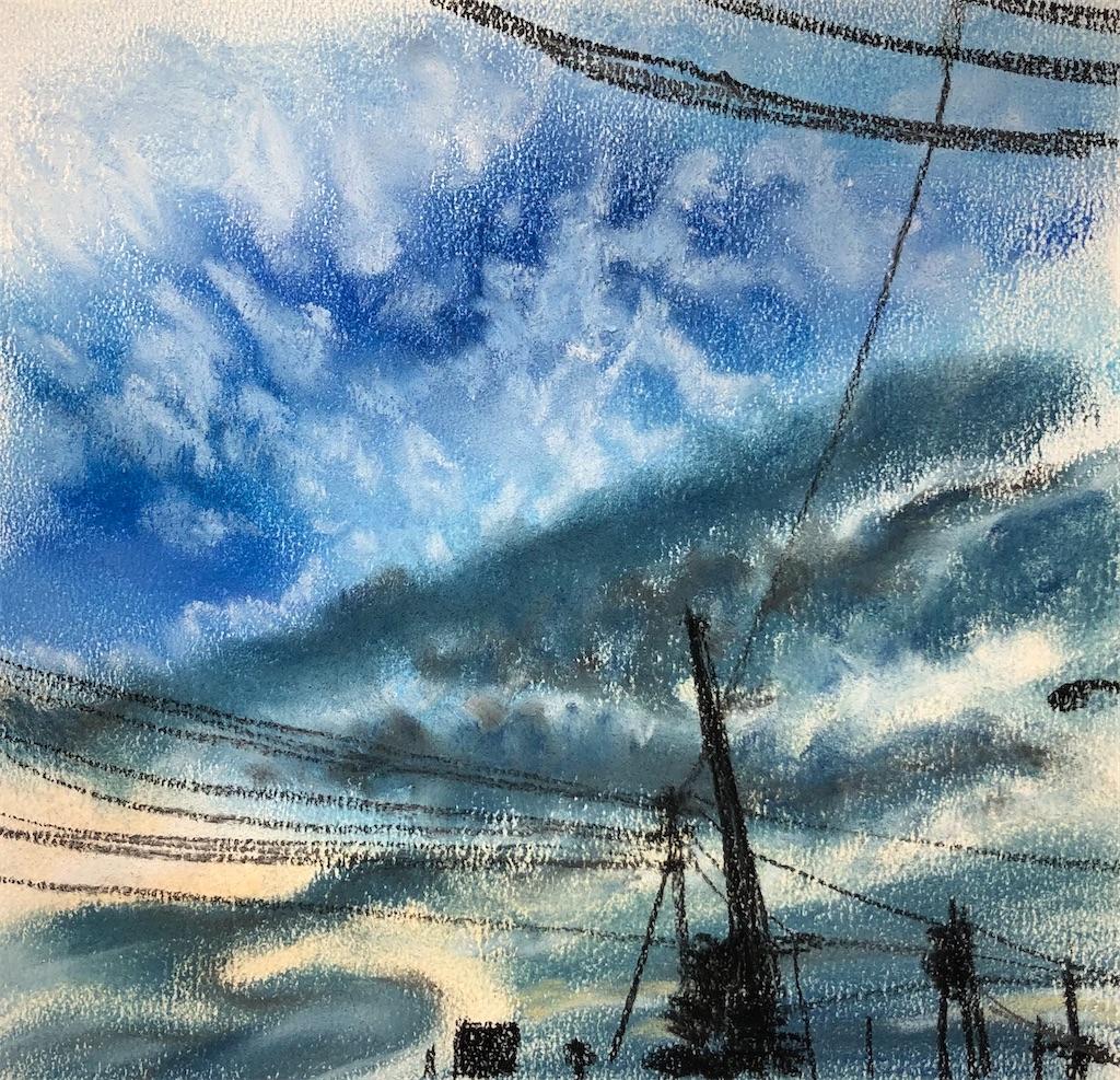 空の雲と光
