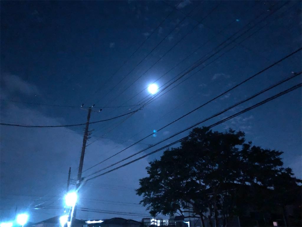 夏至の月。
