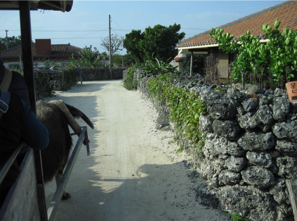 竹富島の家並み