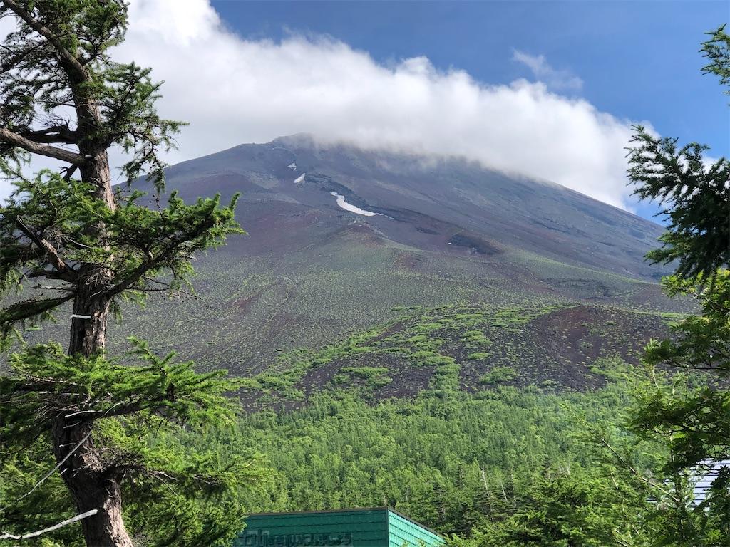 小御岳神社の鳥居から見える富士山頂
