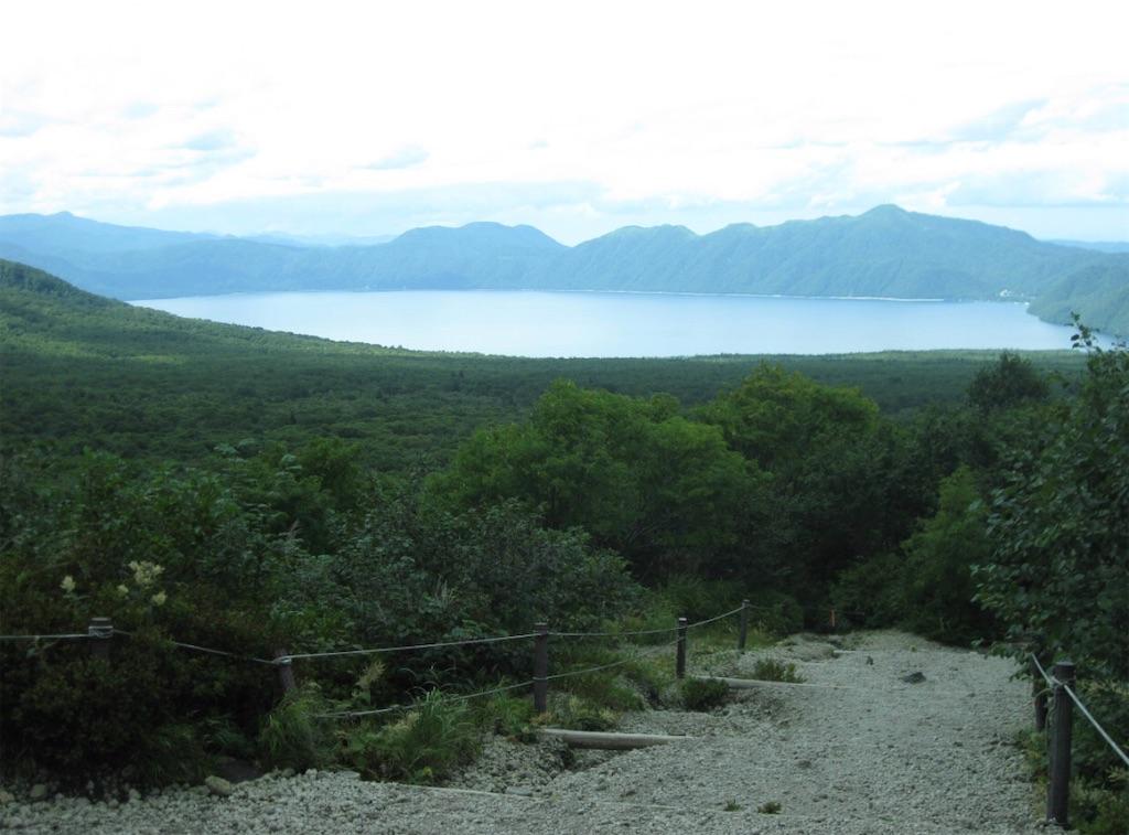 樽前山から見る支笏湖
