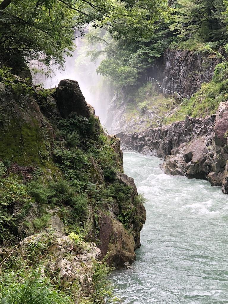 白丸ダムの放流
