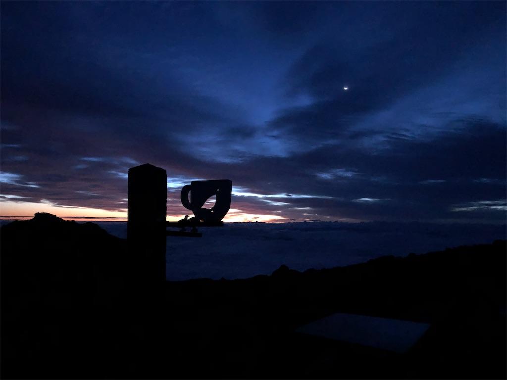 二の池ヒュッテの夜明け