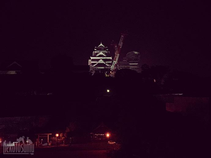 ホテル屋上からの熊本城