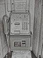 公衆電話 モノクロ