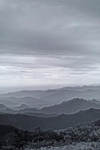 美ヶ原高原からのぞむ