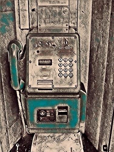 公衆電話  レタッチ