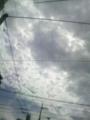 曇ってきた。