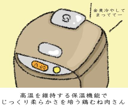炊飯器で低温保温する