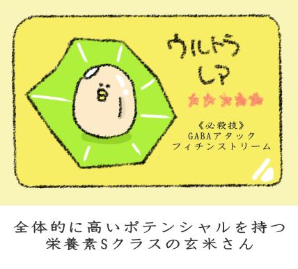栄養豊富な玄米の図