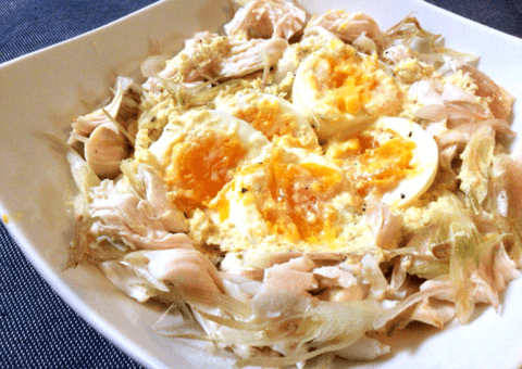 ミョウガ鶏ささみのレモンジンジャーソース(糖質2.9g)