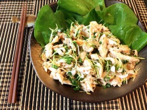 ヨーグルトキムチのポン生姜ささ身サラダ(糖質4.1g)