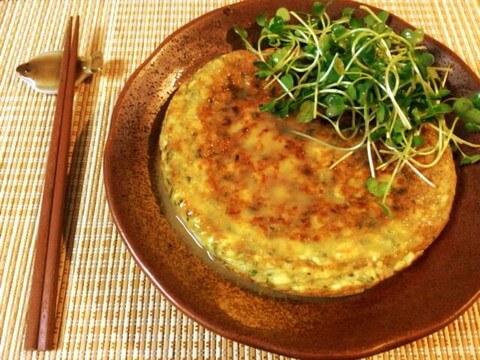 オクラ海老豆腐の恍惚塩バター明石焼き(糖質5.4g)