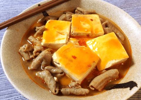 沁み豆腐のくったくた豆板醤ホルモン煮込み(糖質4.6g)