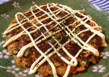 絶品オクラチーズのキムチお好み焼き(糖質12.9g)