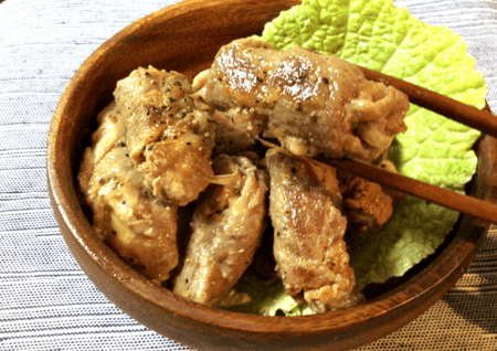 豚もも肉の味噌マヨチーズ茗荷巻き(糖質4.4g)