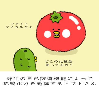 野生の自己防衛機能によって抗酸化力を発揮するトマトさん