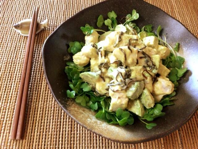 激柔ささみと柚子胡椒マヨの塩昆布アボカド(糖質2.6g)