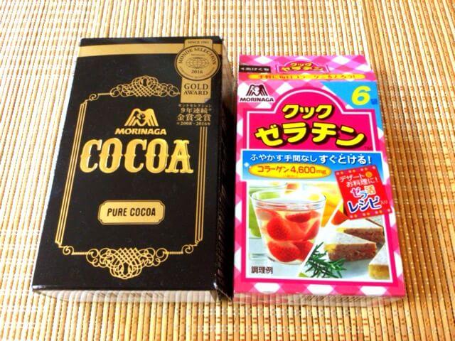 材料③ 無糖ココア+ゼラチン