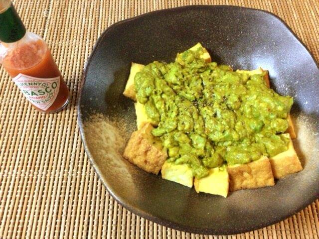 スイチリカレー厚揚げのアボカドオーブン(糖質3.7g)