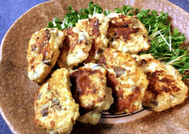 お弁当にカレーカマンベールのナス鶏つくね(糖質5.3g)