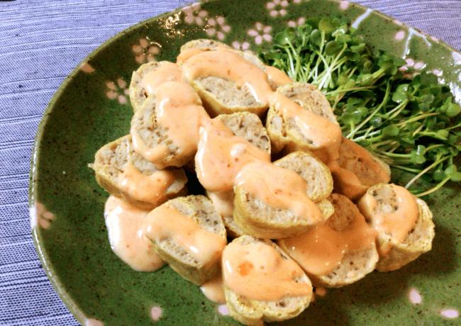 スイチリマヨの油揚げチキン生姜ロール(糖質8.9g)