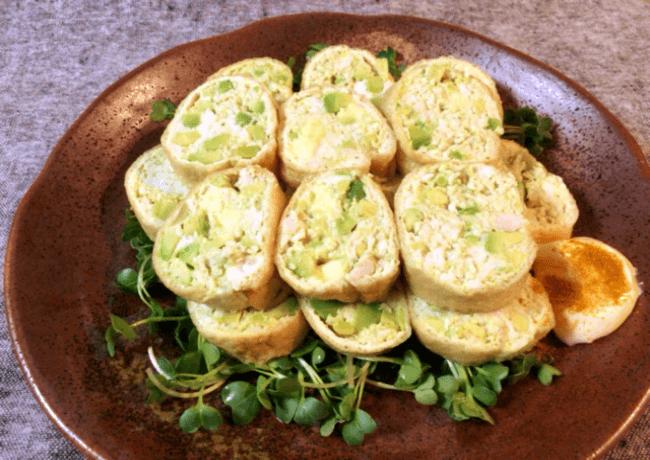 アボカドチーズの絶品カレーチキンロール(糖質4.0g)