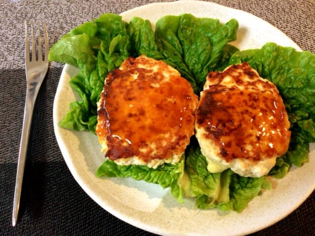 豆腐チーズバーグのスイチリバター醤油(糖質4.8g)