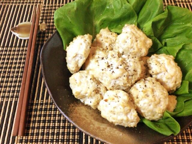 エノキチーズの大盛りオーブン鶏ナゲット(糖質8.3g)