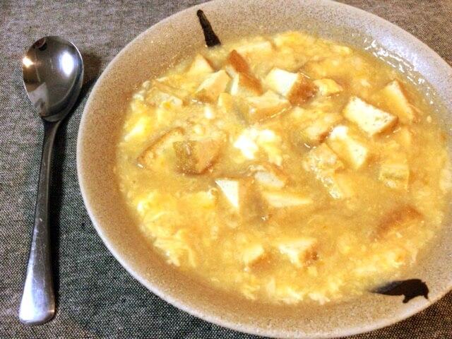 本格トロリ厚揚げ大蒜タマゴ中華スープ(糖質6.9g)