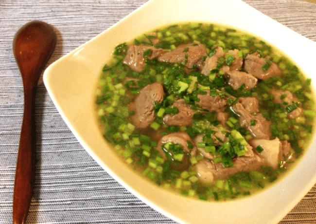 牛モモ小葱のバターコンソメ生姜スープ(糖質4.1g)