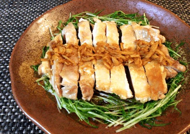 焦がし生姜の酢醤油パリパリチキン(糖質3.4g)