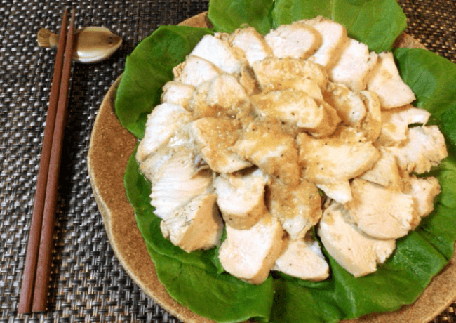 常備するならジップロックステーキ鶏ハム(糖質5.4g)