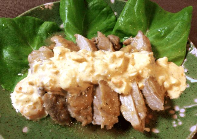 レンジで柔らか鶏肉オニオンぽん酢タルタル(糖質5.1g)